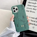 New design Hermes leather phone case for iphone 12 pro max 11 pro max xs max 7 8