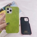 Wholesale Hermes leather phone case good quality low price phone case