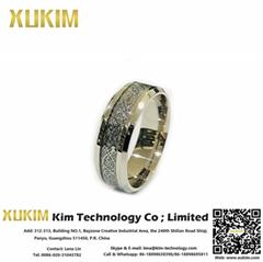 Xukim SSR007 Stainless Steel Custom Promise Rings