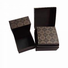 Luxury Unique Brown Custom Wedding Engagement Ring Box