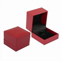 Red Flip Top Cardboard Watch Box
