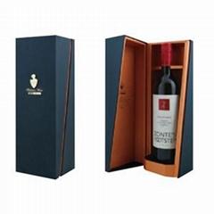 High Quality Flip Top Cardboard Single Bottle Wine Box