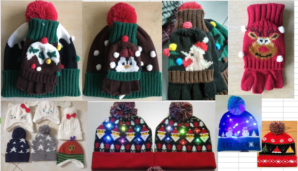 99ff557e474f Winter Children Baby Kids Knitted Acrylic Jacquard Animal Pattern Christmas  LED ...