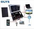 Portable solar generator solar home emergency power system