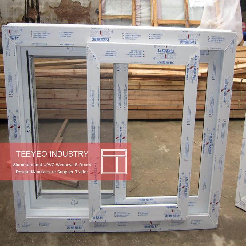 Teeyeo Industry plastic sliding window with mosquito netting  2