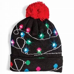 圣诞灯帽子