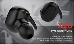 TWS mini wireless headphone earphone with charging box