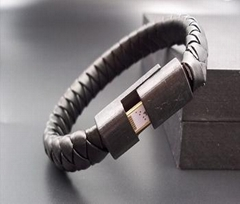 Fashion Bracelet For iPhone Charger 2.1A USB PU Leather USB Data Cable