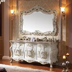 Luxuty Antique Vintage Double Bathroom Vanity With Genuine Marble Top No.806