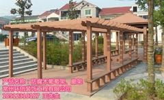 供应江浙沪防腐木葡萄架庭院碳化木户外露台廊架
