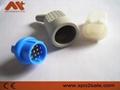 布鲁克12针血氧,3/5导心电图机线连接器 3