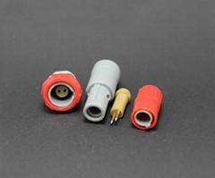 塑料頭2針單定位推拉自鎖連接器