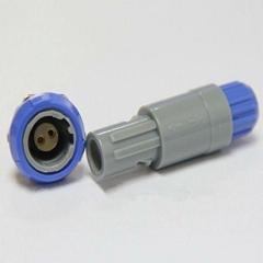 2针40度角塑料头推拉自锁连接器