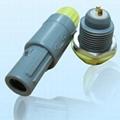 2針40度角塑料頭推拉自鎖連接器 3