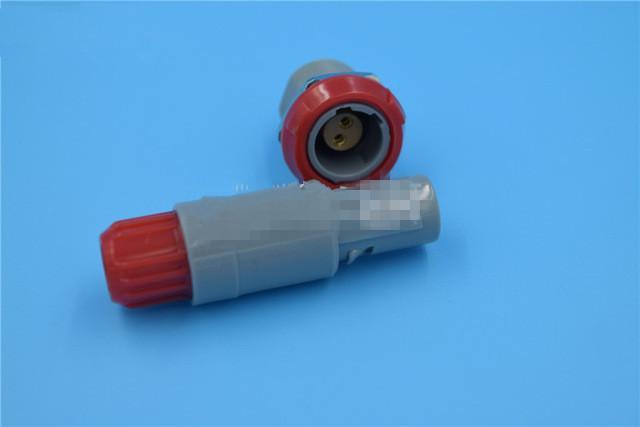 2针60度角塑料头推拉自锁连接器 1