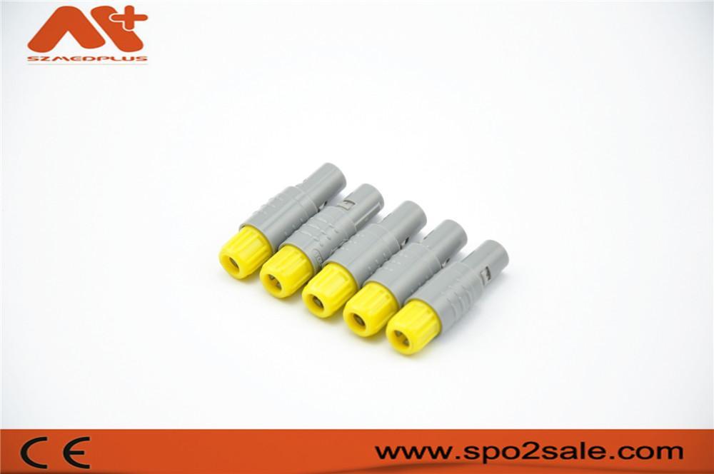 2针60度角塑料头推拉自锁连接器 2