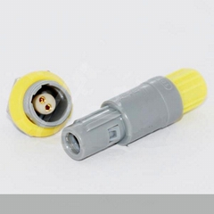 2针80度角塑料头推拉自锁连接器