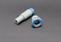 单定位3针塑料头推拉自锁连接器