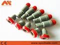 單定位3針塑料頭推拉自鎖連接器 5