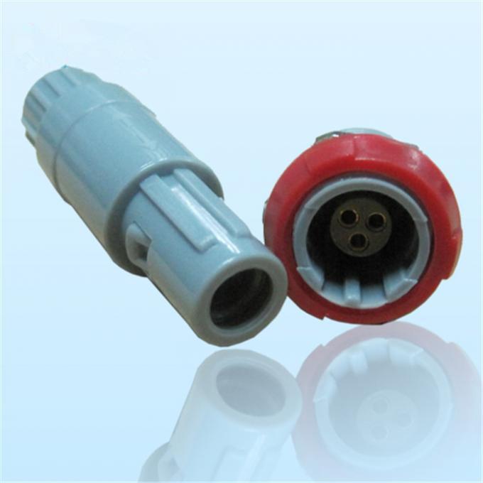 3针40度角塑料头推拉自锁连接器 1