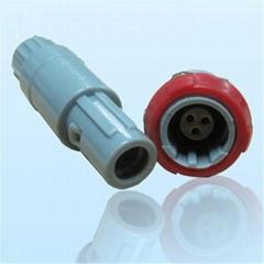 3针40度角塑料头推拉自锁连接器