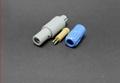 塑料頭推拉自鎖連接器3針60度