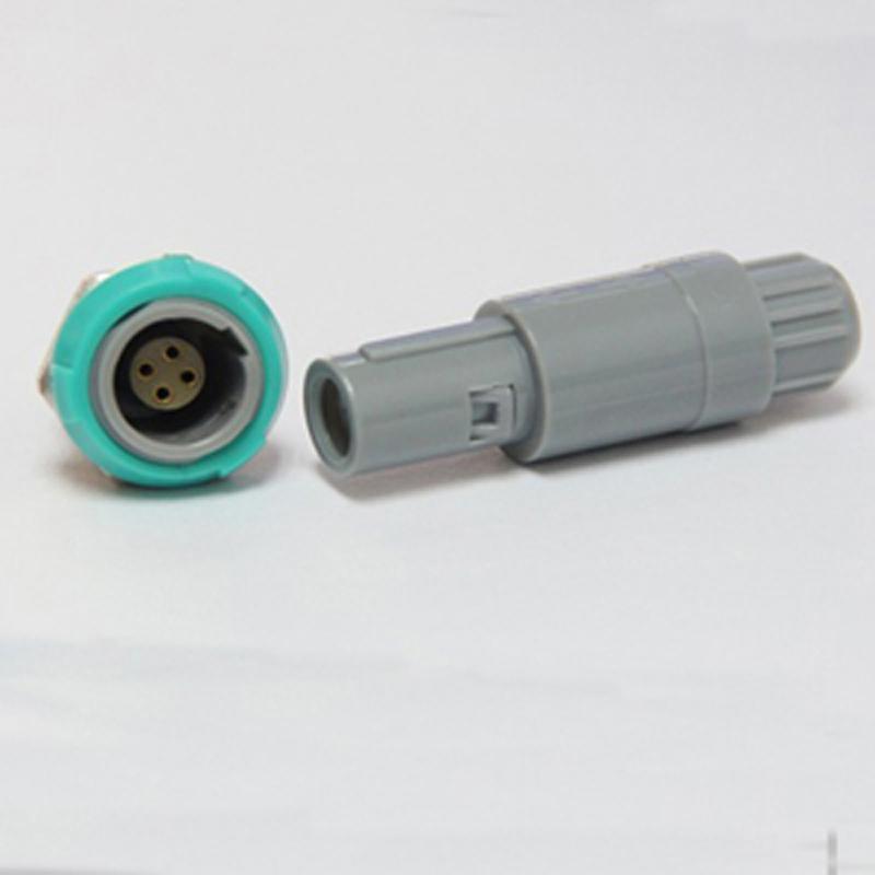 单定位4针塑料头推拉自锁连接器 2