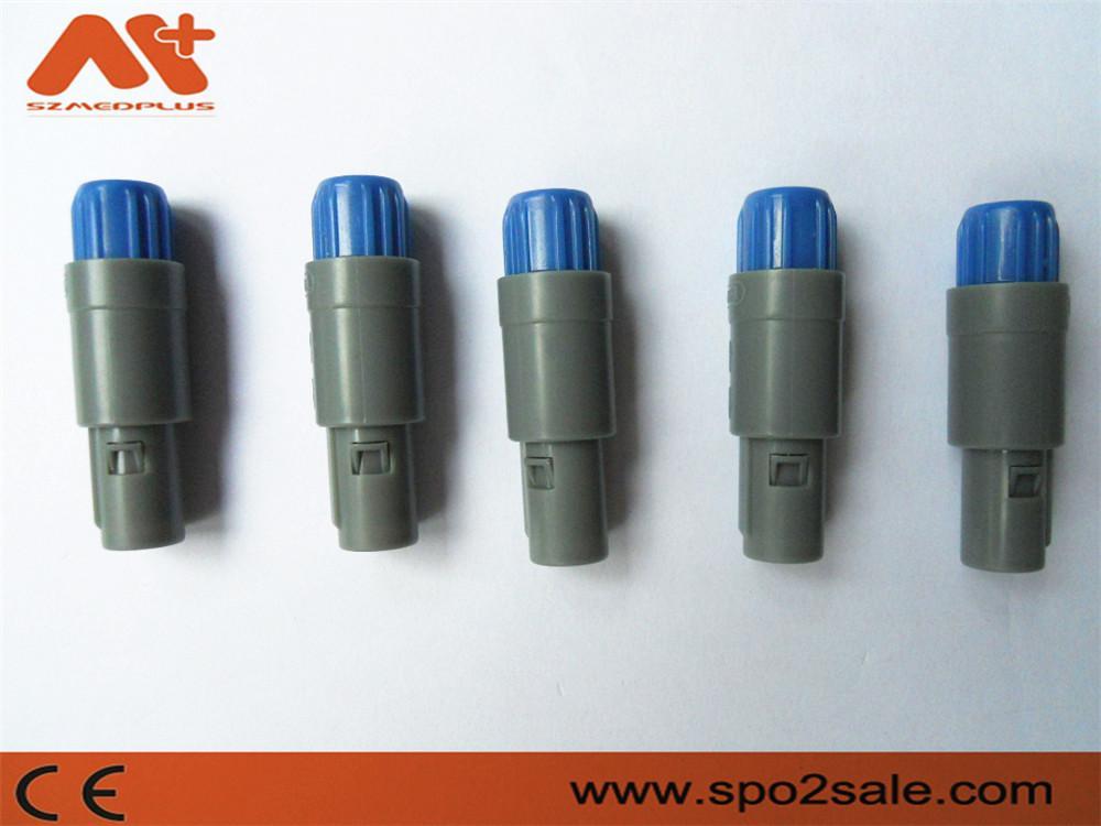 单定位4针塑料头推拉自锁连接器 5