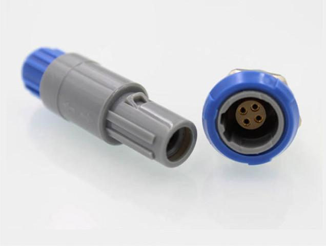 4针40度塑料头推拉自锁连接器 1
