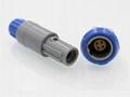 塑料头推拉自锁连接器4针40度