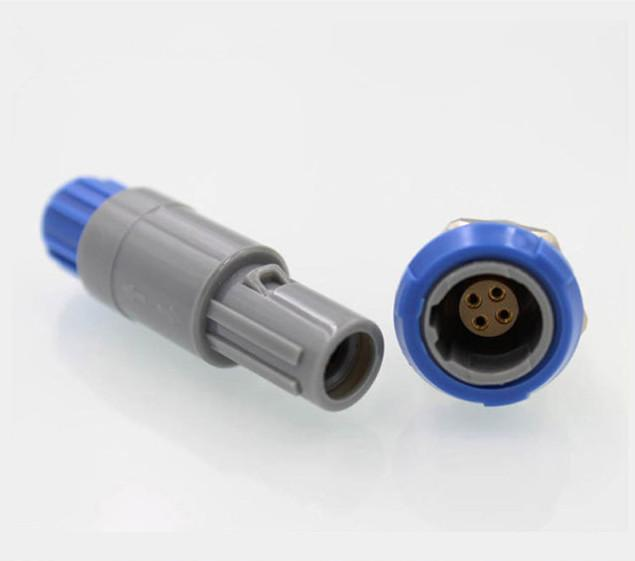 4针40度塑料头推拉自锁连接器 2