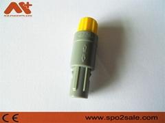 直式推拉自锁连接器标准医疗连接器塑料头5针