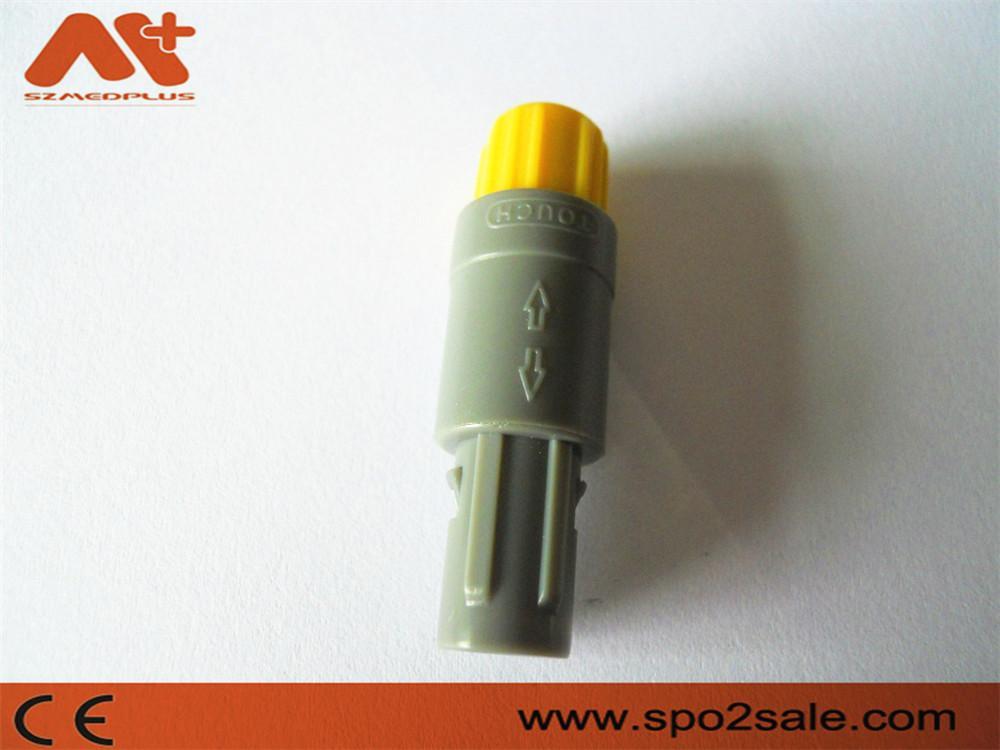 直式推拉自鎖連接器標準醫療連接器塑料頭5針 2