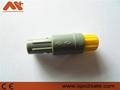 直式推拉自锁连接器标准医疗连接器塑料头5针 5