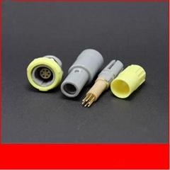 塑料头推拉自锁连接器医疗连接器单定位6针