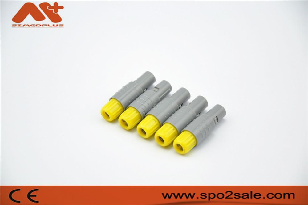 塑料头推拉自锁连接器医疗连接器单定位6针 3