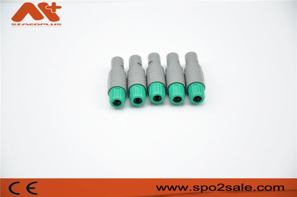 塑料头推拉自锁连接器医疗连接器单定位6针 4