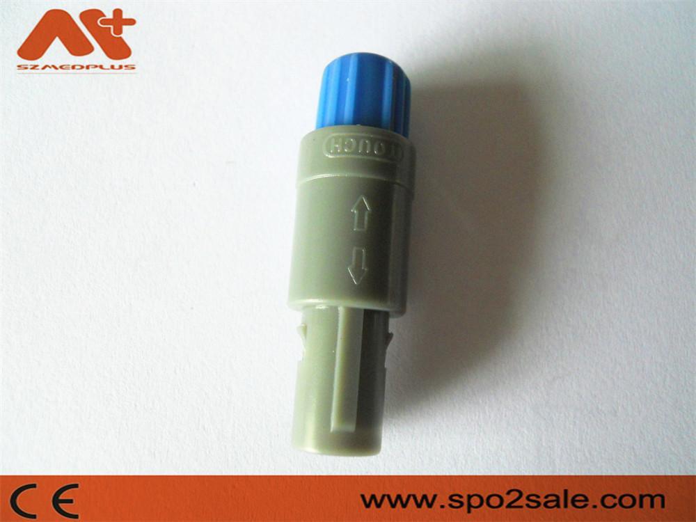 塑料头推拉自锁连接器医疗连接器单定位6针 5