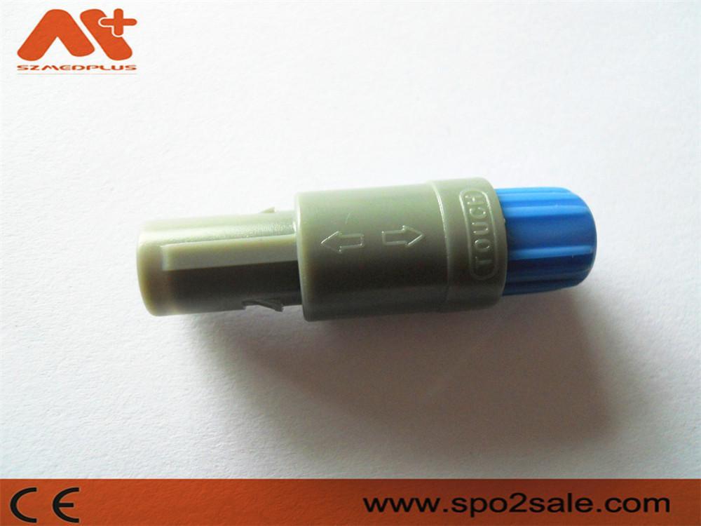 塑料头推拉自锁连接器医疗连接器单定位6针 6