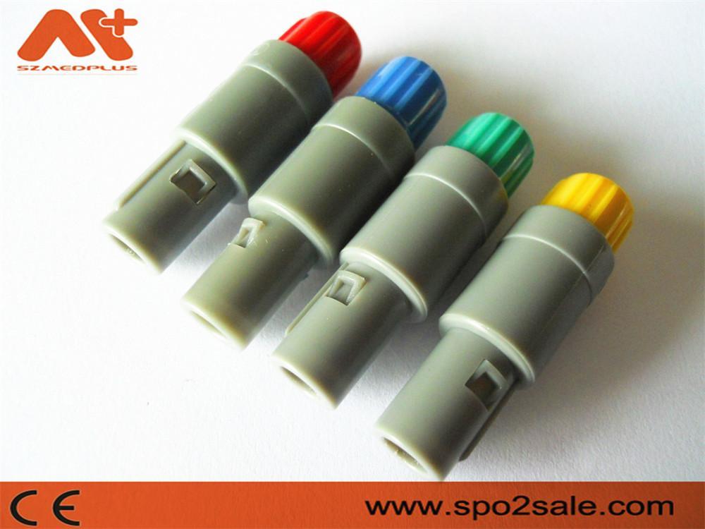 塑料头推拉自锁连接器医疗连接器单定位6针 7