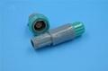 塑料頭推拉自鎖連接器醫療連接器6針60度 1