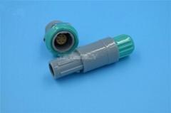 塑料头推拉自锁连接器医疗连接器6针60度