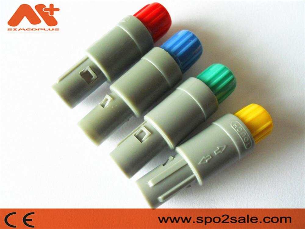 塑料头推拉自锁连接器医疗连接器6针60度 3