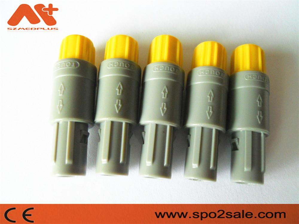 塑料頭推拉自鎖連接器醫療連接器6針60度 5