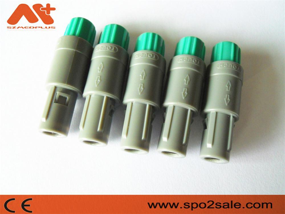 塑料头推拉自锁连接器医疗连接器6针80度 2