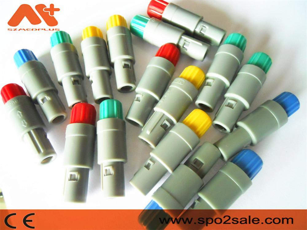 塑料头推拉自锁连接器医疗连接器6针80度 5
