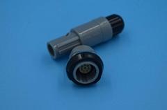 7针塑料头推拉自锁连接器医疗连接器双定位40度