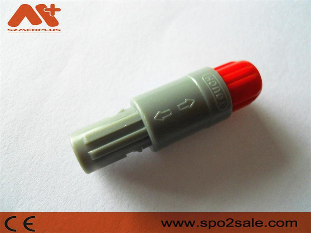 7针塑料头推拉自锁连接器医疗连接器双定位40度 2