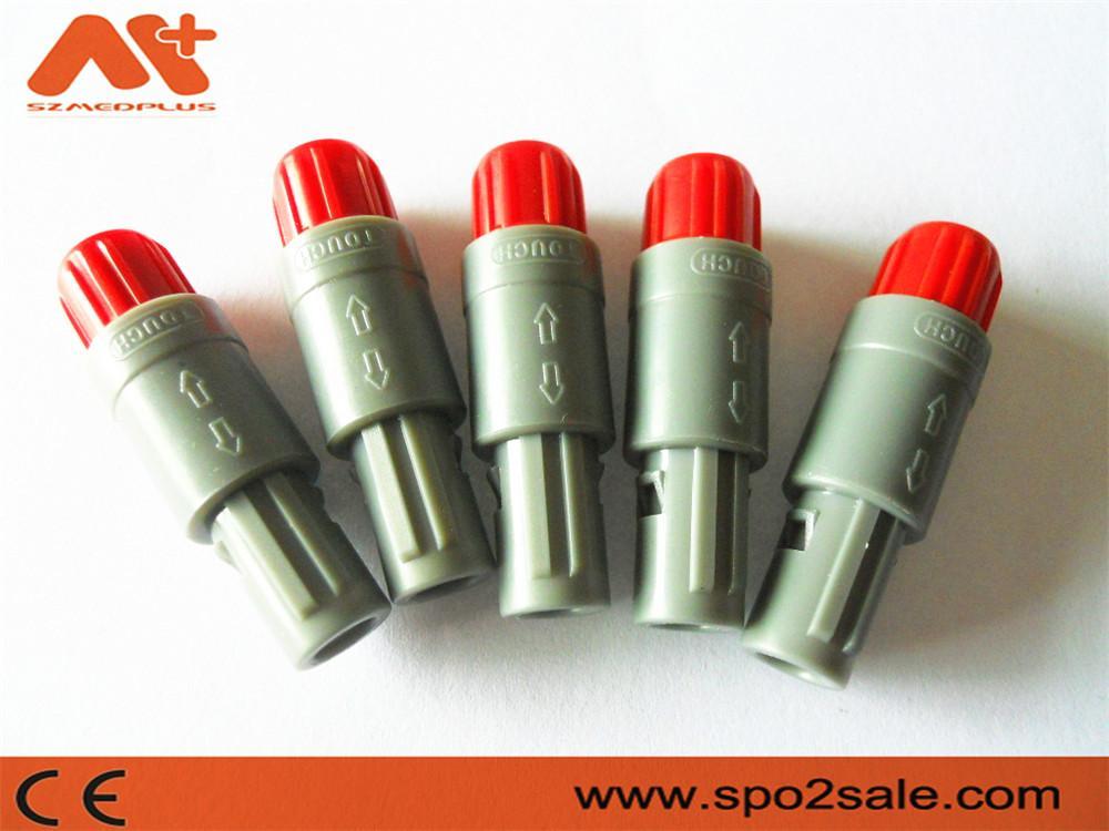 7针塑料头推拉自锁连接器医疗连接器双定位40度 3