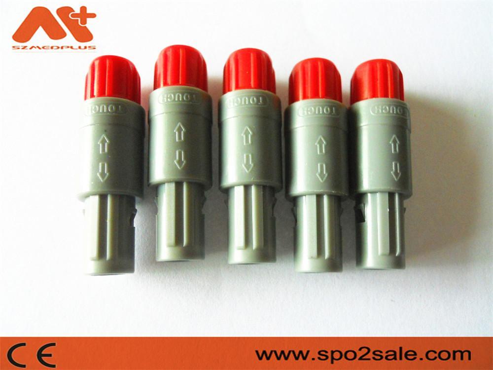 7针塑料头推拉自锁连接器医疗连接器双定位40度 4